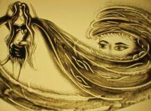 Волшебство песочной анимации . Моцарт Драйв
