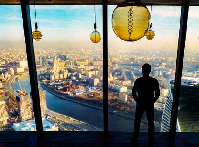 Обзорная экскурсия на смотровую площадку в Москве, 31 декабря 2020 г., Башня Федерация Восток